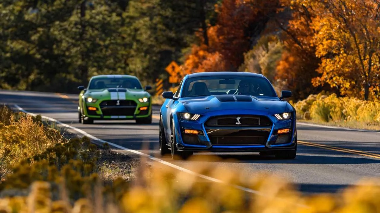You can blame the new mustang mach 1 for that. 2021 Shelby Gt500 Gets Carbon Fiber Handling Package New Colors