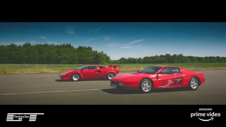 The Grand Tour Ferrari Vs Lamborghini Race