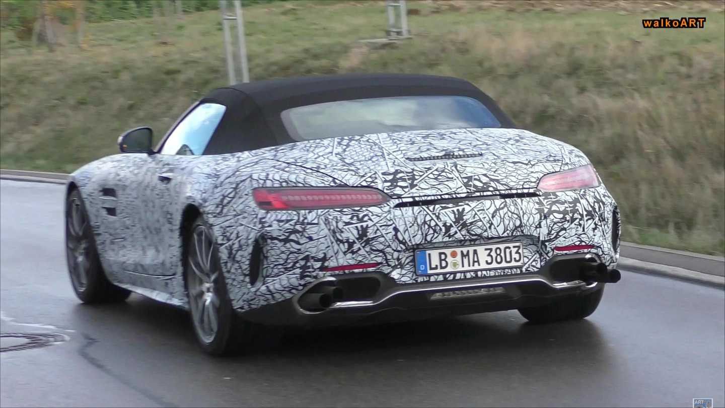 Mercedes-amg Gt Stacked Exhaust Spy Video