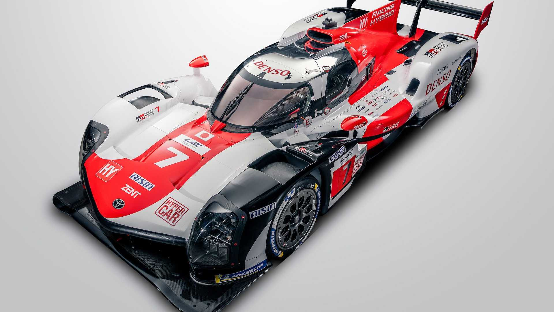 toyota gr010 le mans hypercar front high angle view