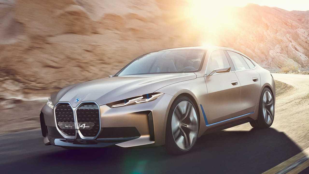 Tesla Logo Wallpaper For Car Bmw I4 Concept Ev Debuts Big Grille Bigger Power 270