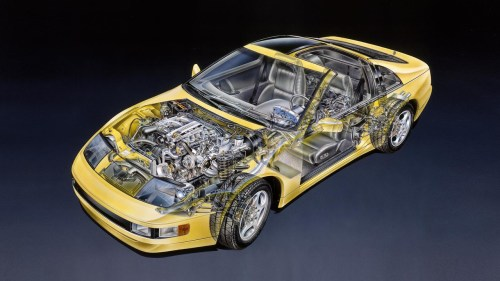 small resolution of 1990 nissan 300zx prototype cutaway sketch by david kimble