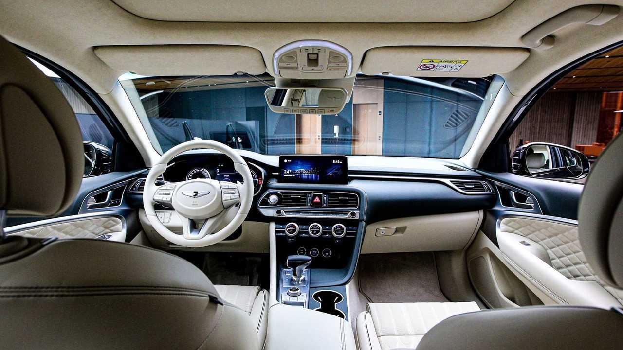 2022 Genesis G70 Refresh Blue Interior