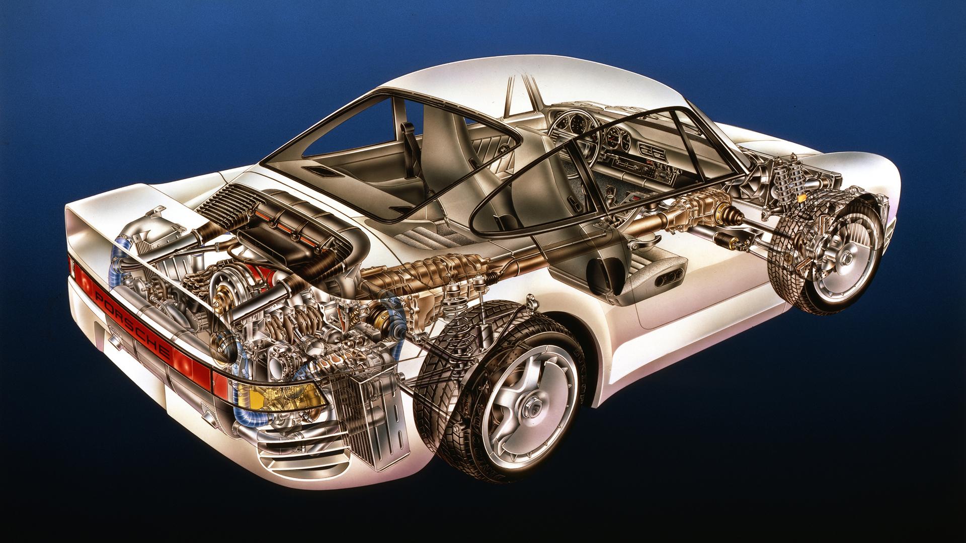 hight resolution of porsche 930 engine diagram