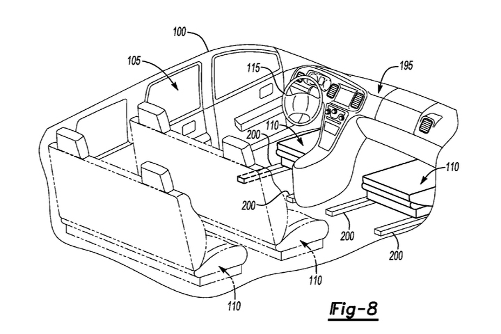 New Ford Patent Reveals Shape Shifting Car Interior