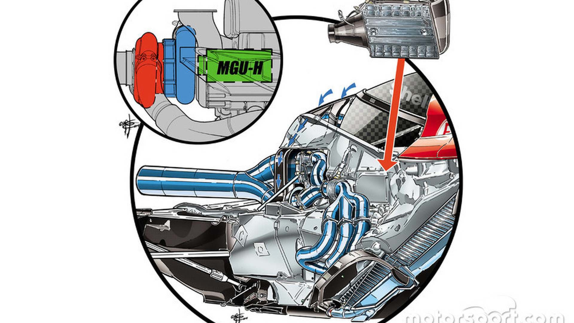 hight resolution of hybrid engine diagram of mclaren s