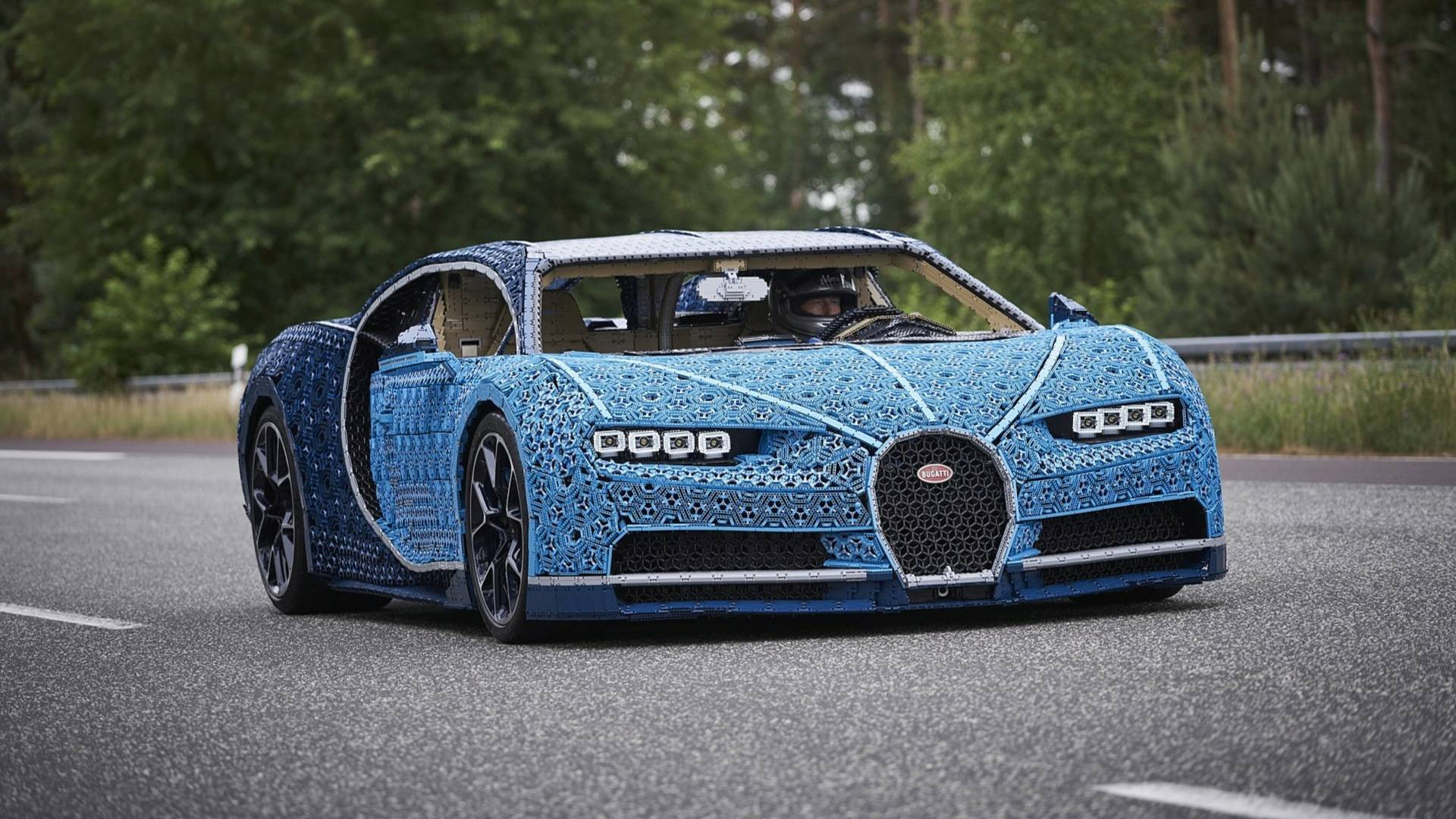This Insane Life Size Lego Technic Bugatti Chiron Is Drivable