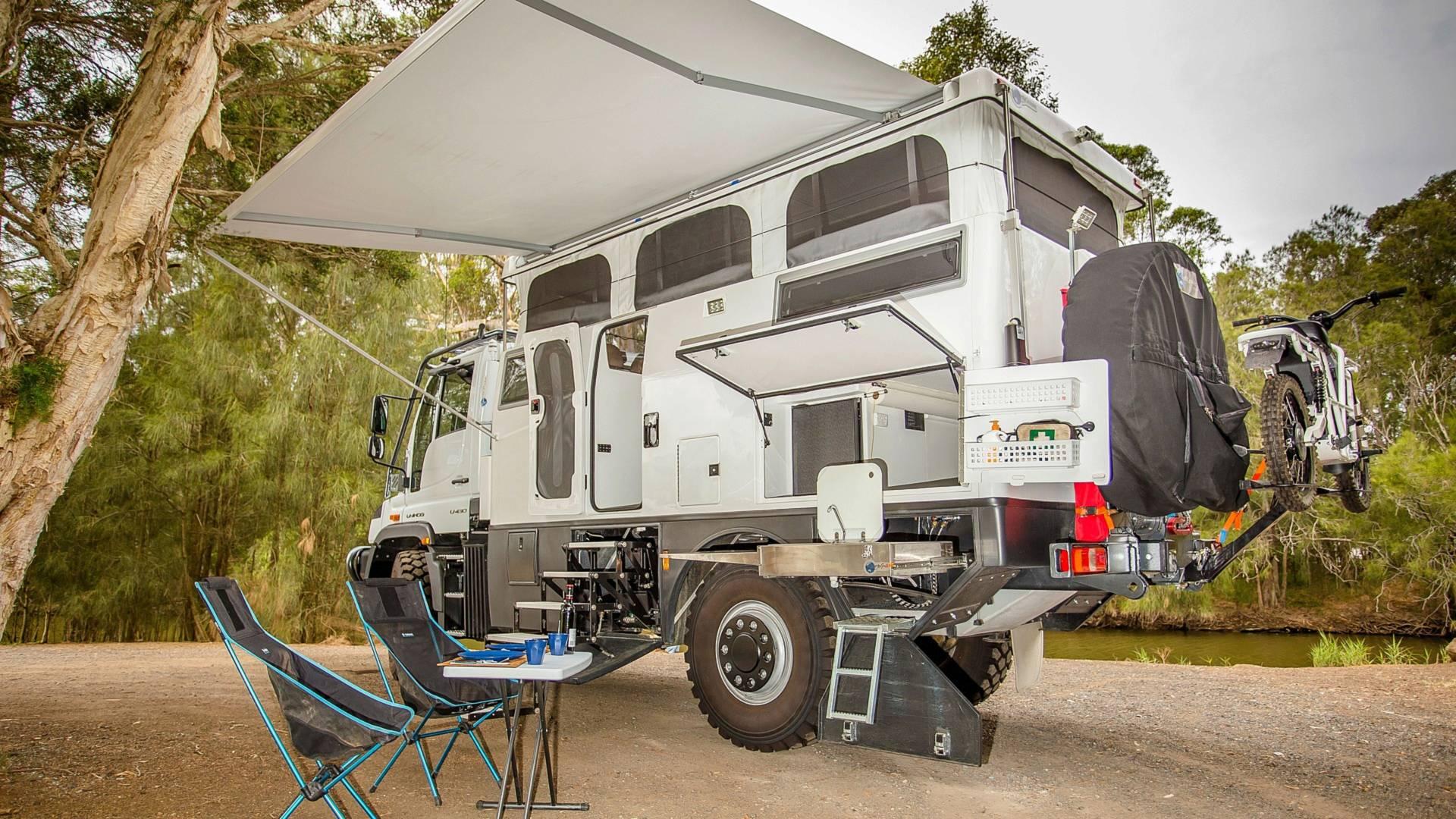 this mercedes unimog camper