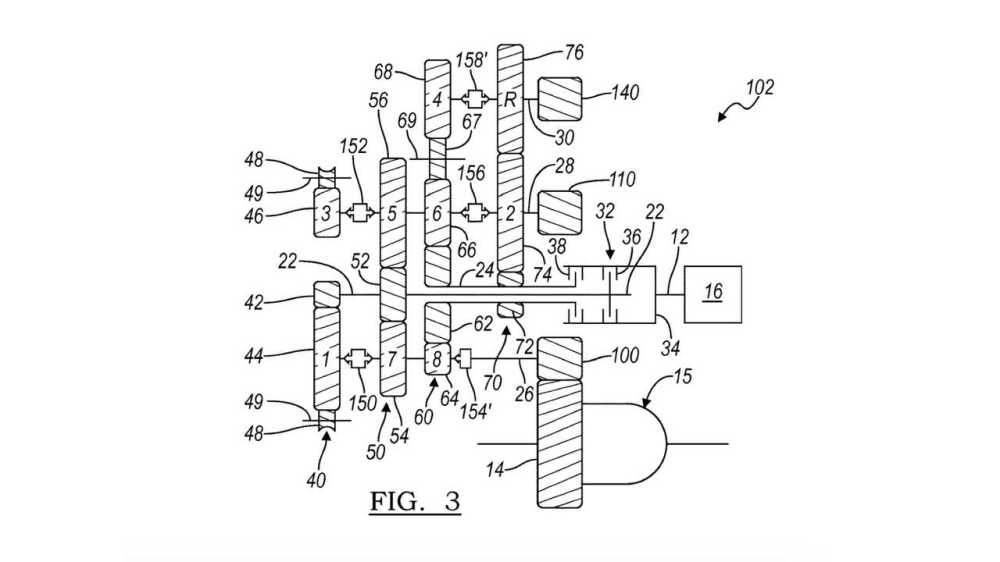 medium resolution of gm eight speed dual clutch gearbox patent