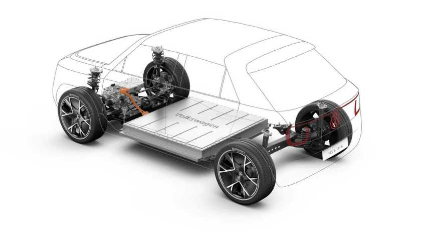 Compact version of the MEB platform for the Volkswagen ID.  Life Concept