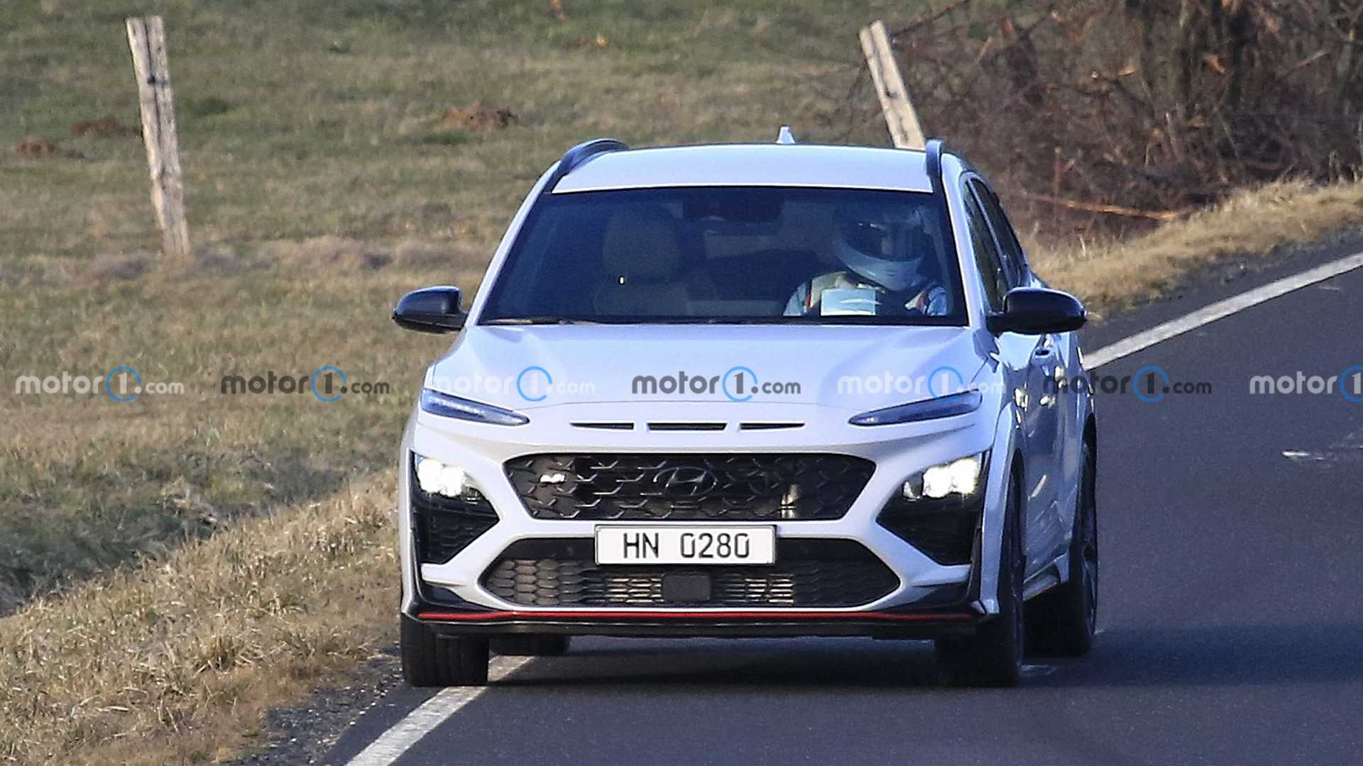 Spy photo of Hyundai Kona N without camouflage