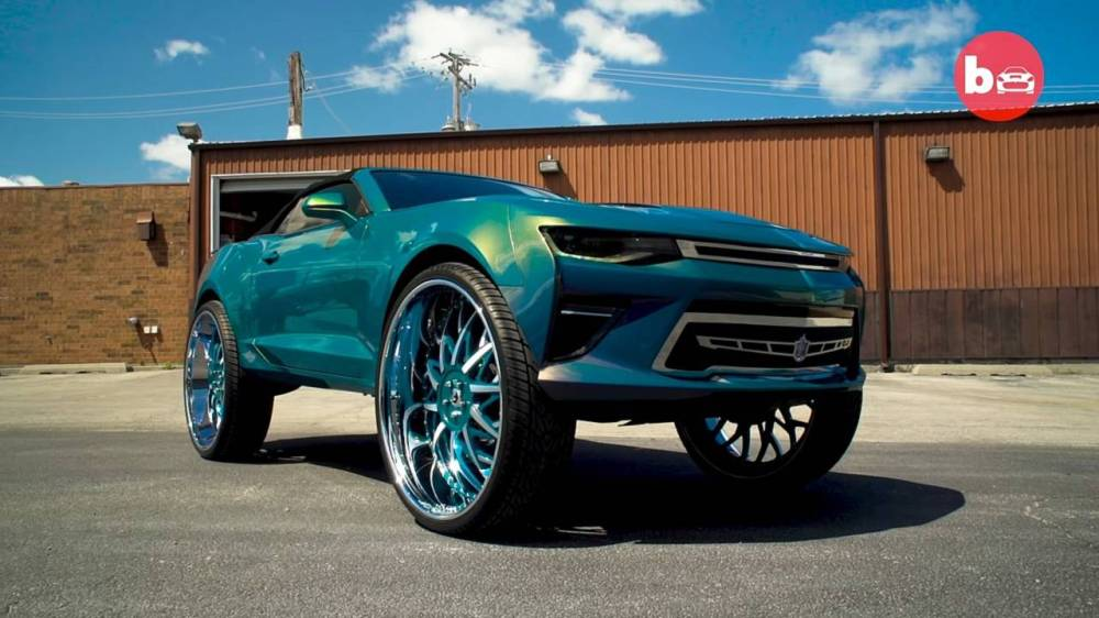 medium resolution of 2016 chevy camaro convertible on 32 inch forgiato blocco wheels