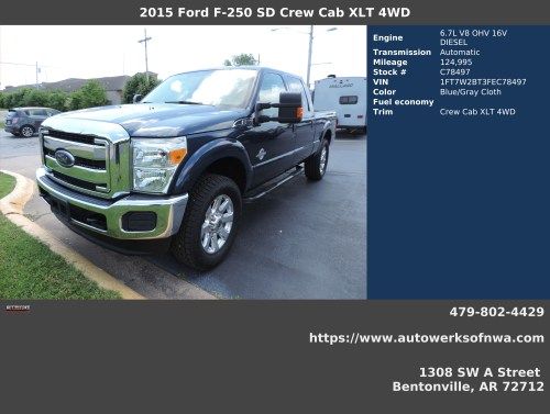 small resolution of 2015 ford f 250 super duty xlt crew cab 4wd