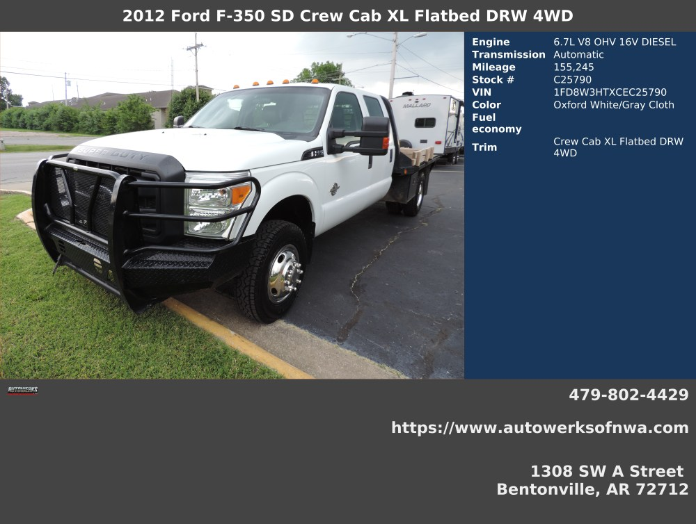 medium resolution of 2012 ford f 350 super duty xl crew cab lb drw 4wd