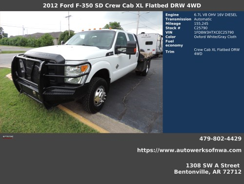 small resolution of 2012 ford f 350 super duty xl crew cab lb drw 4wd