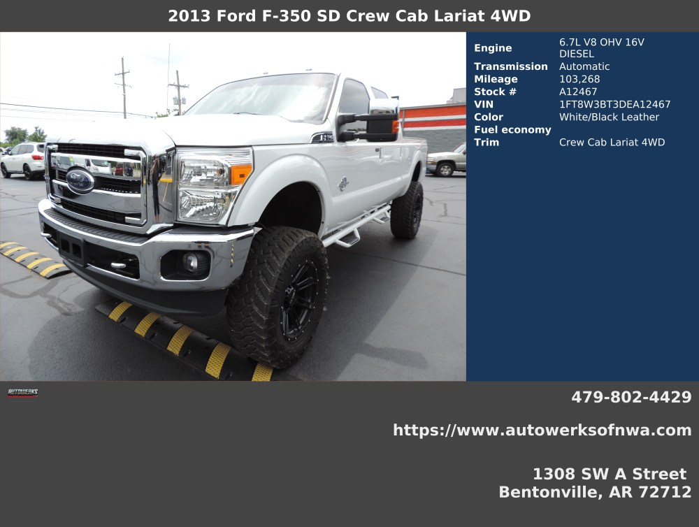 medium resolution of 2013 ford f 350 super duty lariat crew cab 4wd