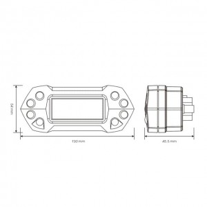 Tacómetro DB-01R+ KOSO Digital universal Speed RPM ODO