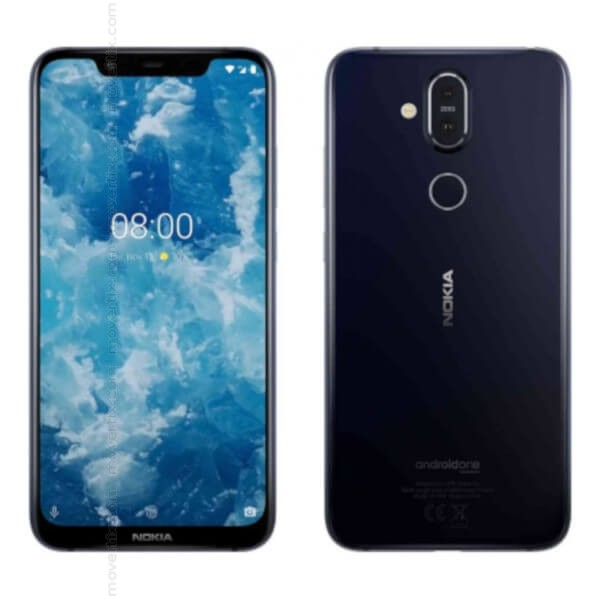 Nokia 8.1 Dual SIM Blue 64GB and 4GB RAM (6438409026613) | Movertix Mobile Phones Shop