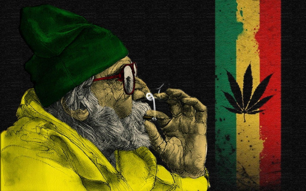 Image result for old man smoking weed