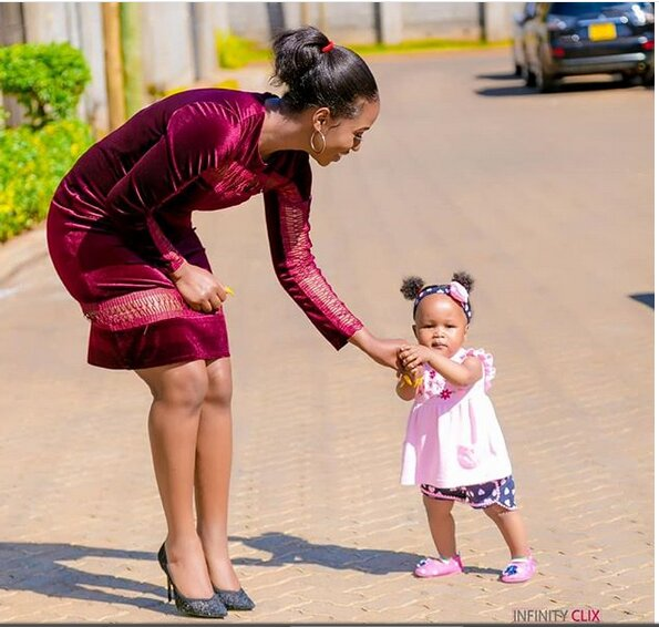 Diana Marua and her daughter