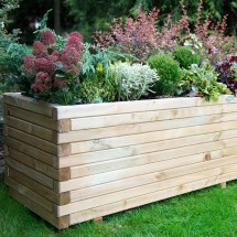 Lomello Wooden Garden Planter Fothergill' Seeds