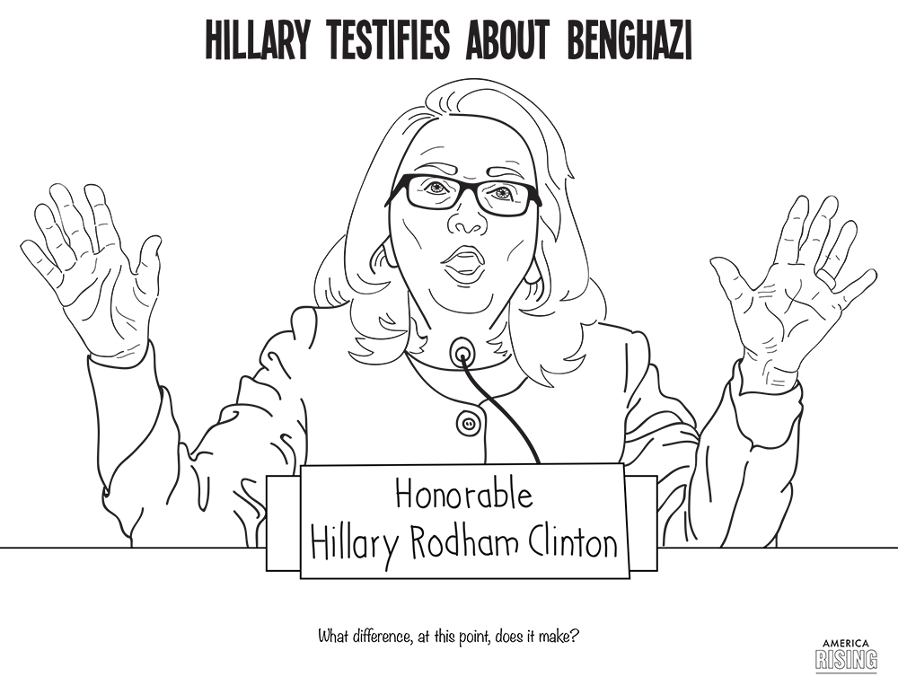 The Missing Pages From the Hillary Clinton Coloring Book