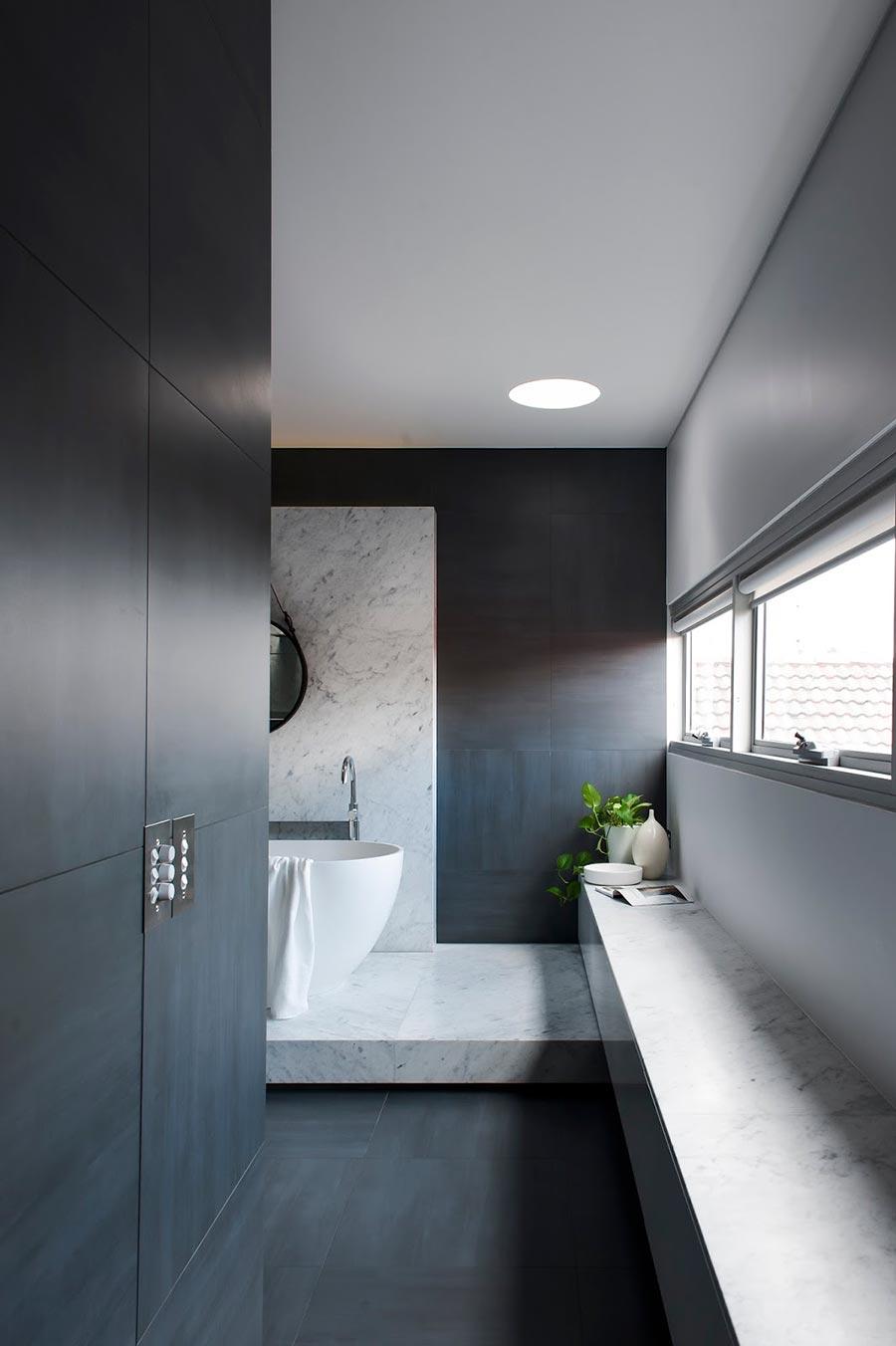 Awardwinning monochromatic Bathroom by Minosa Design
