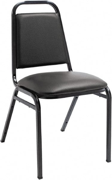 stackable padded chairs book chair reading stand vinyl black stacking 35336478 msc