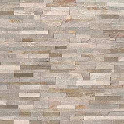 stacked stone stone backsplash ledger panels
