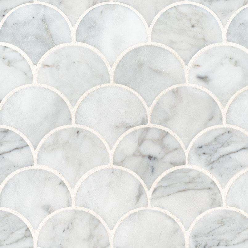 calacatta blanco scallop polished