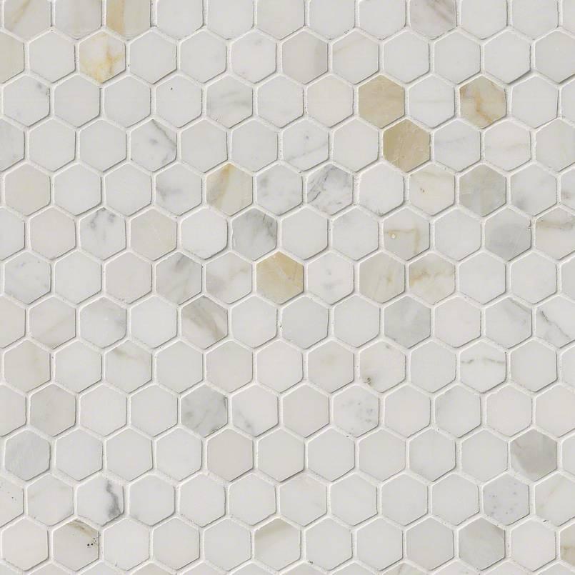calacatta gold marble 1 hexagon