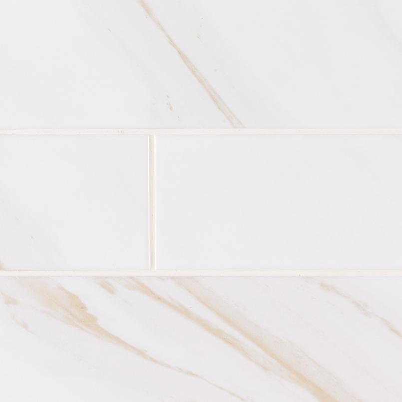 classique white calacatta glossy subway tile ceramic tile 4x16