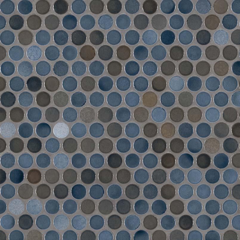 penny round azul glossy