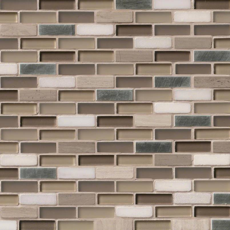 silver tip 0 625x2x8 mm backsplash tile