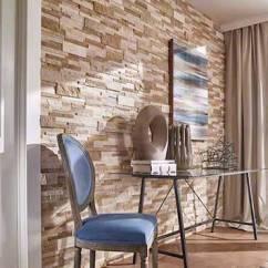 Stacked Stone Kitchen Backsplash 27 Inch Sink Tile Backsplashes Wall