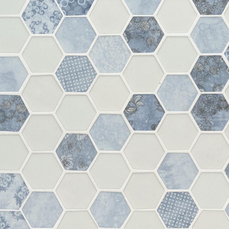 vista azul hexagon glass tile glass tile glass backsplash