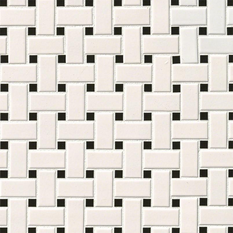 basket weave tile white black matte basket weave tile