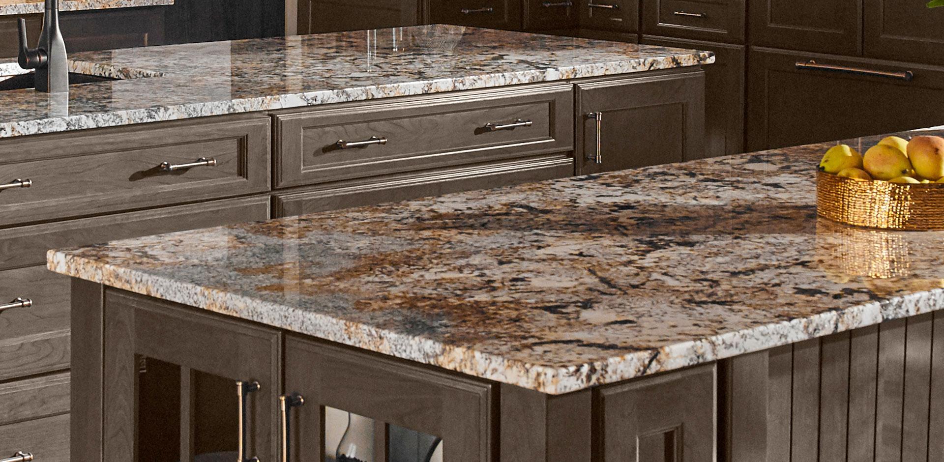 Kitchen Room Scene  Caravelas Gold Granite Countertop