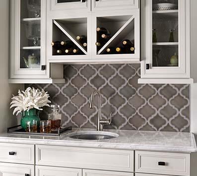 mosaic backsplash kitchen floating island tile backsplashes wall installation