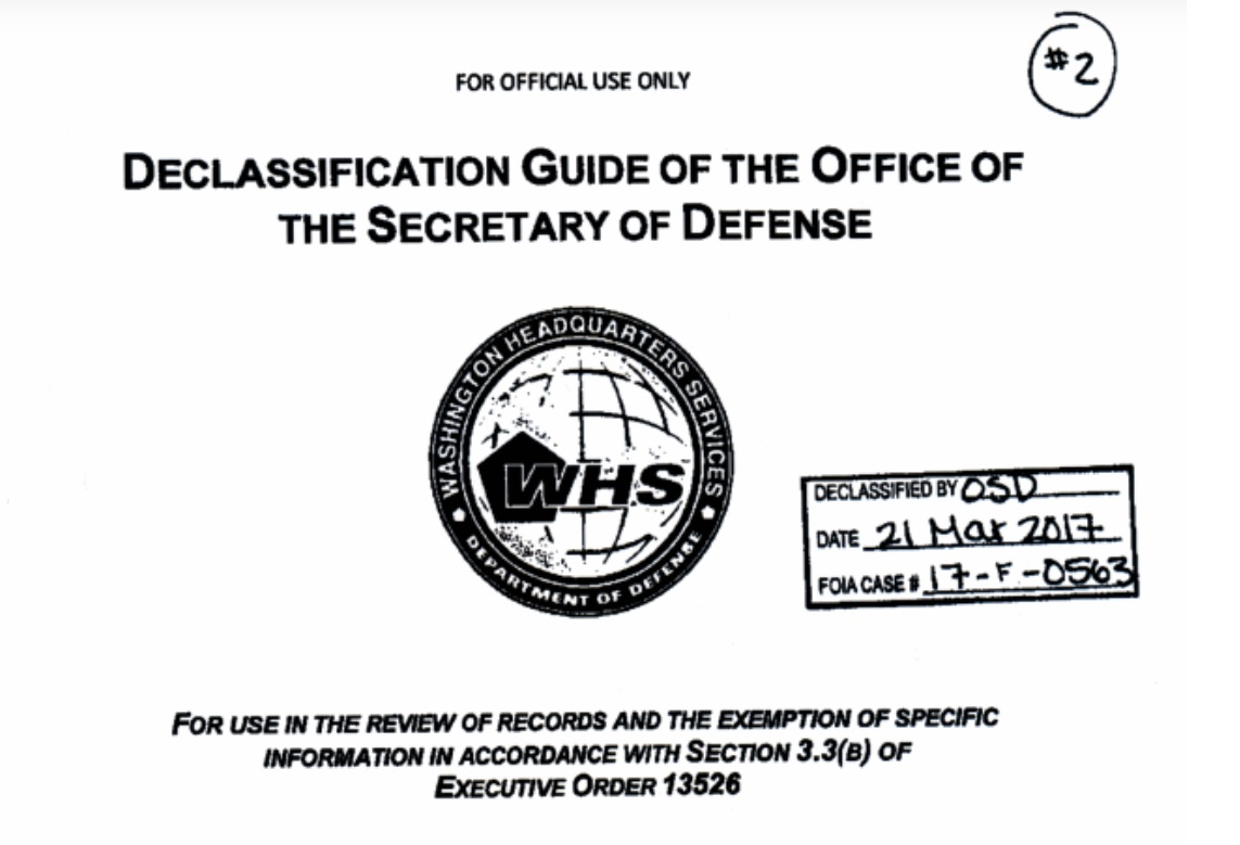 Pentagon claims list of information exempt from FOIA is