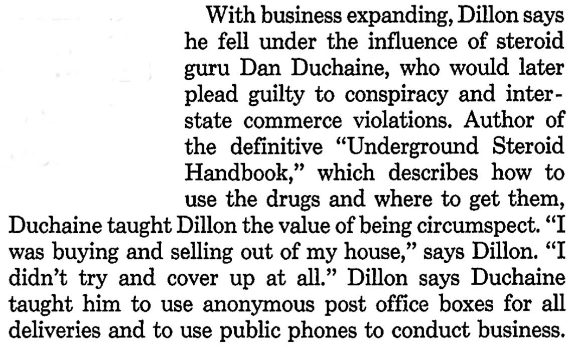 FBI file on controversial steroid guru Daniel Duchaine