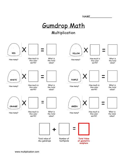 Gumdrop Multiplication and Addition