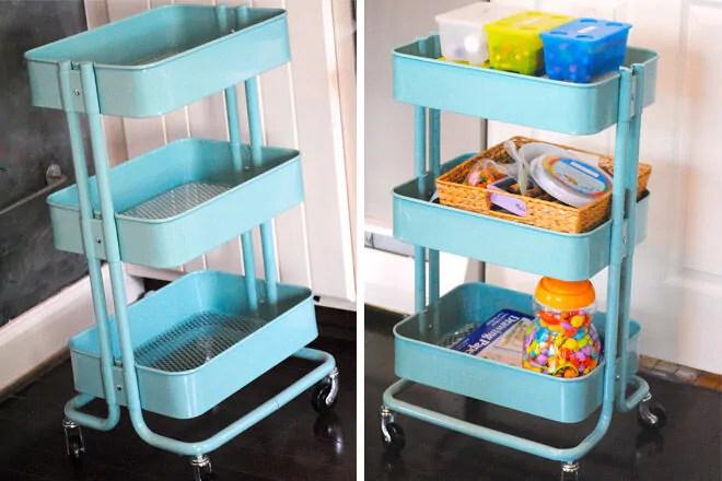 14 Clever Kids Craft Storage Ideas