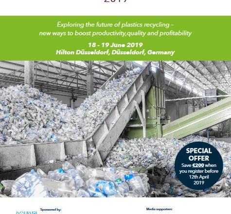 Plastics Recycling Technology 2019, ami, conferencia sobre reciclaje de plásticos, reciclado químico de plásticos, clasificación, economía circular, residuos plásticos, erema, molinos, tecnología para el reciclado de plásticos, consultora AMI, dusseldorf, junio 2019, erema, arkema, poliestireno, Dow, packaging, envases