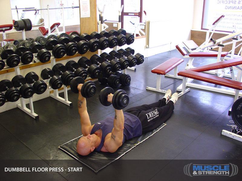 Dumbbell Floor Press Video Exercise Guide Tips