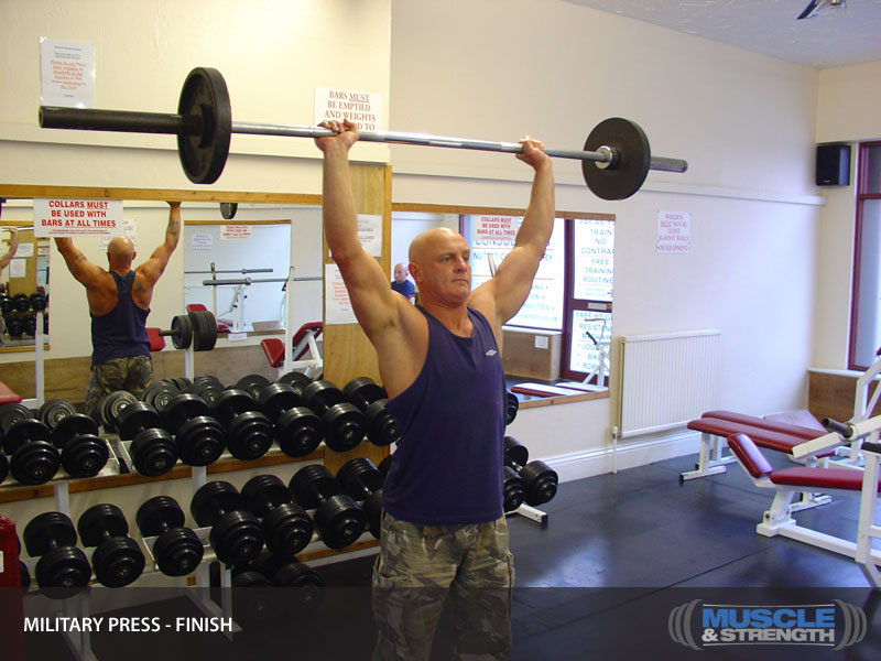 Military Press Video Exercise Guide Amp Tips Muscle Amp Strength