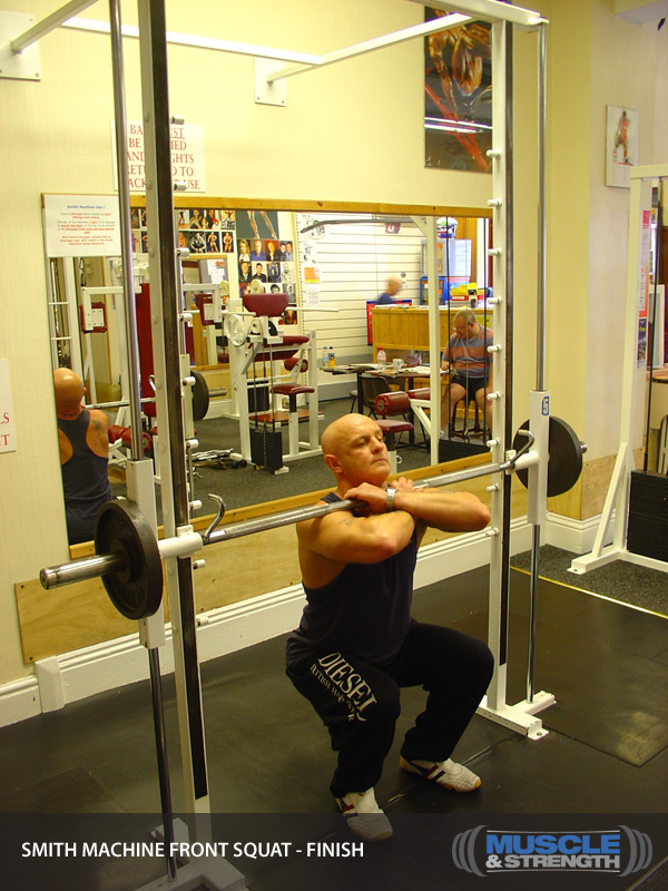 Smith Machine Front Squat Video Exercise Guide Amp Tips