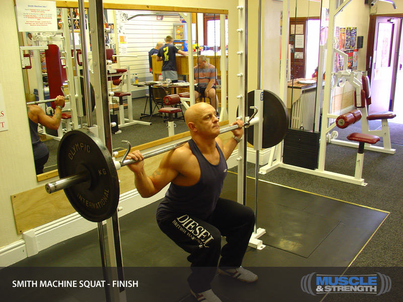 Smith Machine Squat Video Exercise Guide Tips Muscle