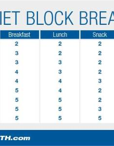 Zone diet block breakdown chart also the plan guide rh muscleandstrength