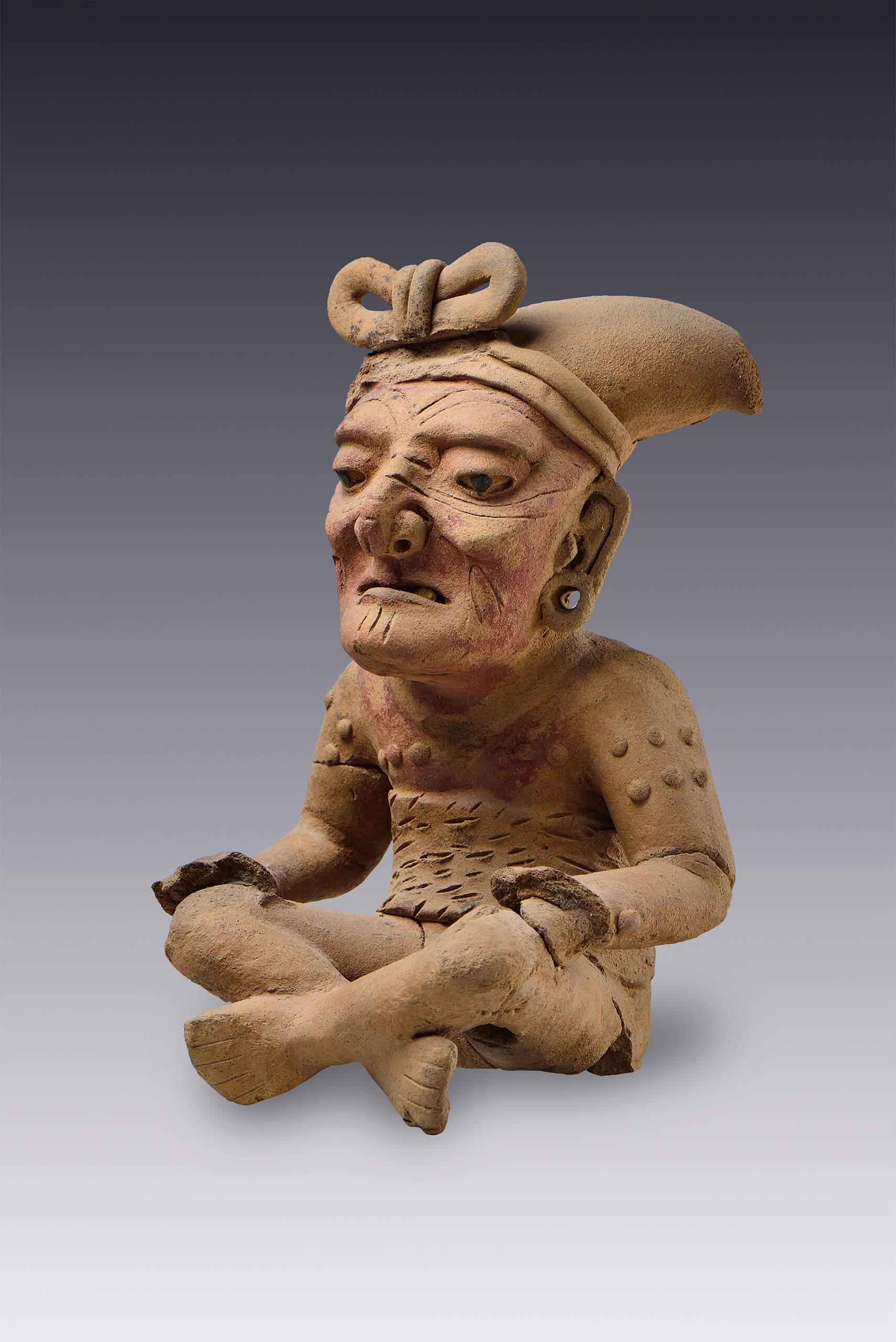 Viejo sentado  El Mxico antiguo Salas de Arte
